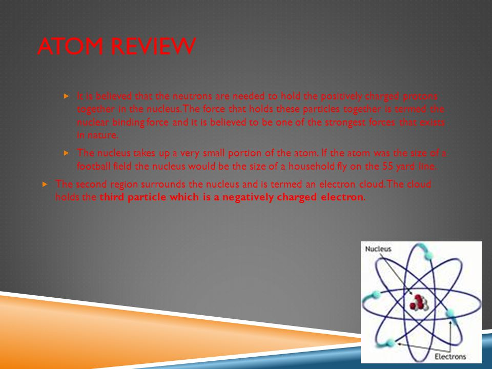 CHARACTERISTICS OF THE ATOM  The number of protons in the nucleus of an atom is termed its atomic number.