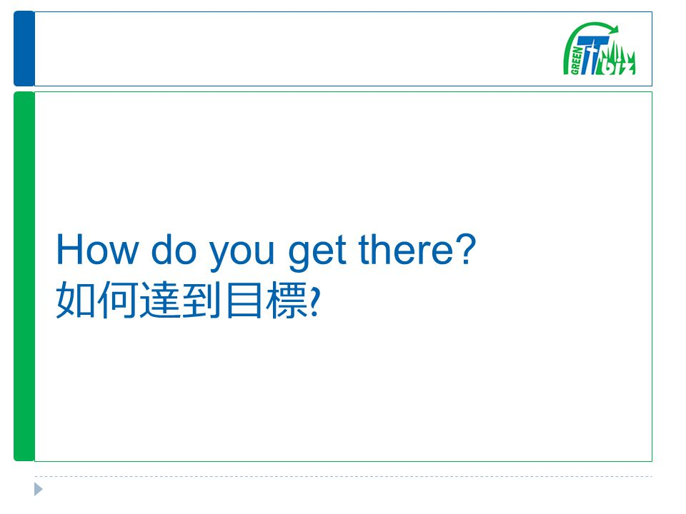 How do you get there 如何達到目標