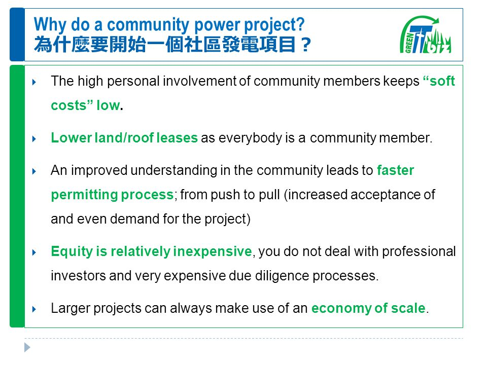 Why do a community power project.