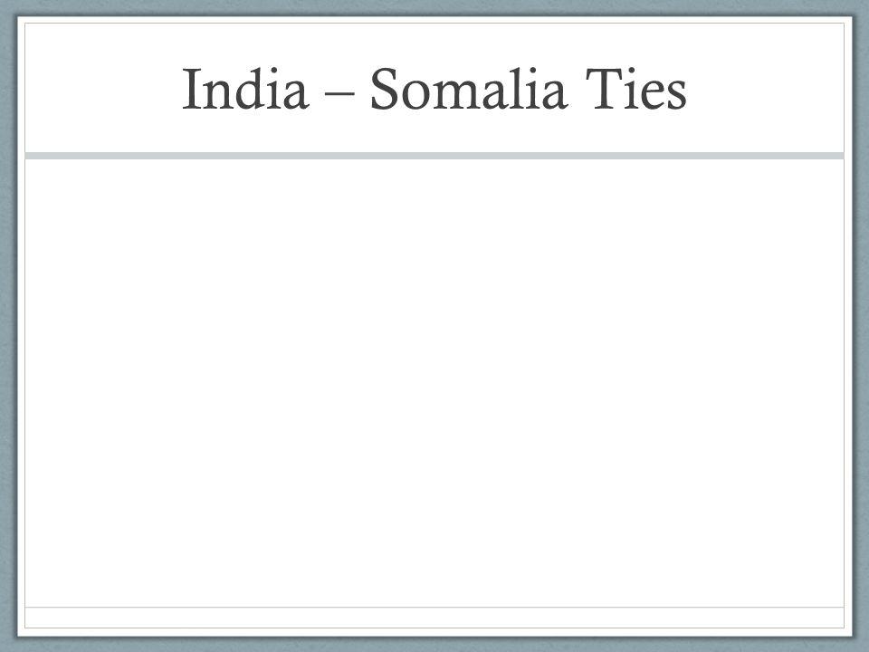 India – Somalia Ties