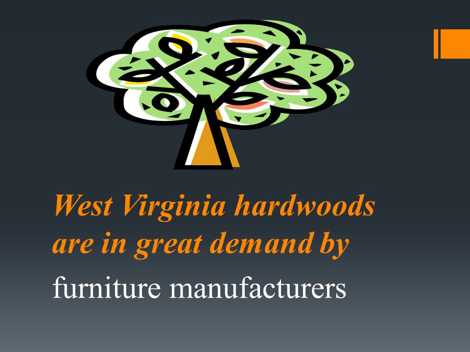 West Virginia hardwoods are in great demand by furniture manufacturers