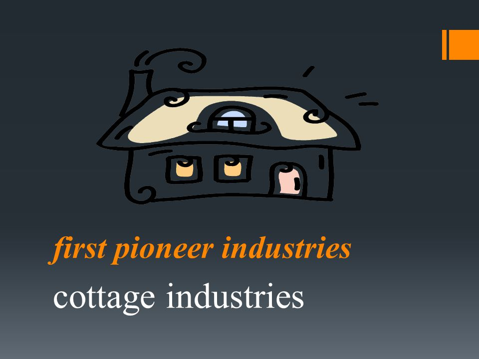 first pioneer industries cottage industries