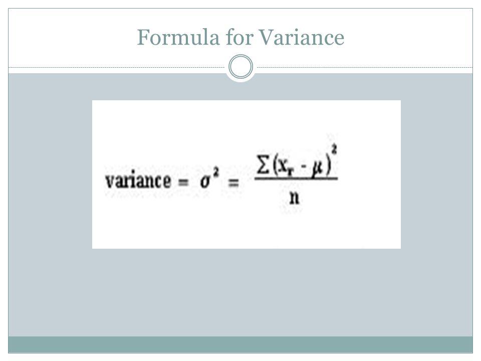 Formula for Variance