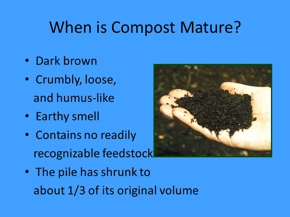 When is Compost Mature.