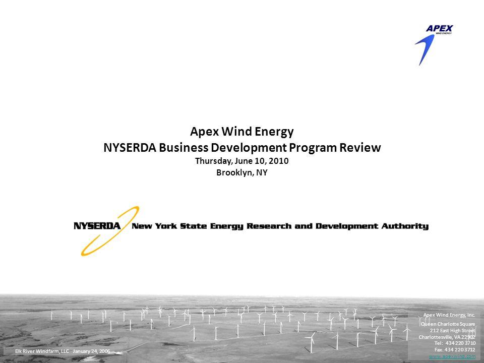 Privileged & Confidential 1 Apex Wind Energy, Inc.