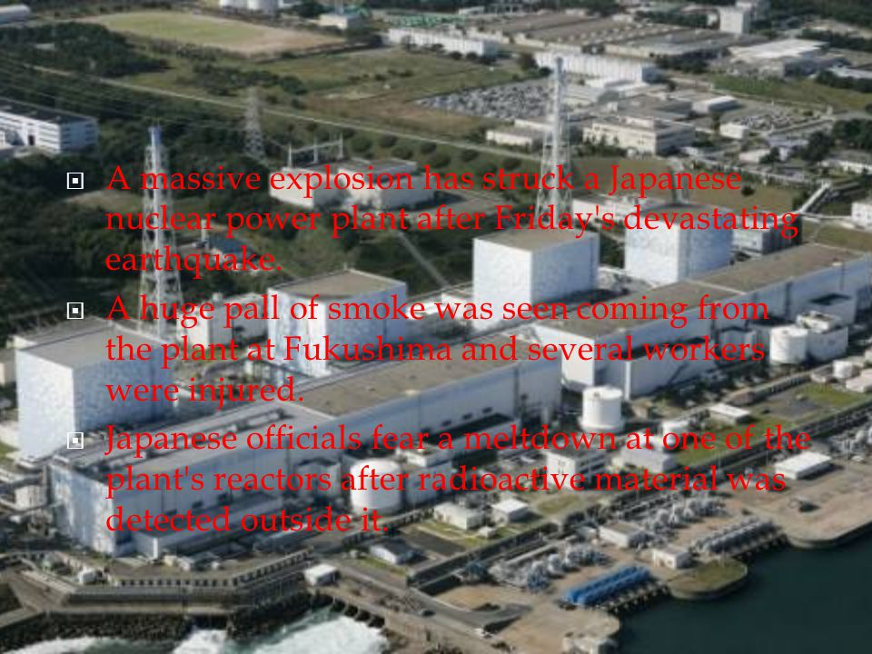 AA massive explosion has struck a Japanese nuclear power plant after Friday s devastating earthquake.