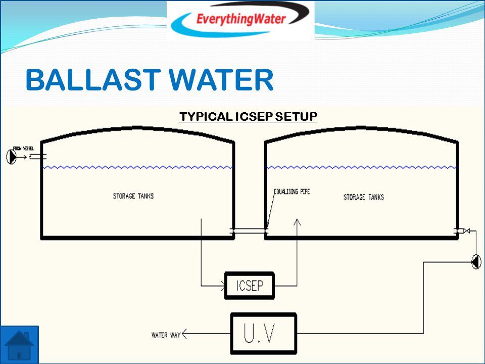 BALLAST WATER TYPICAL ICSEP SETUP