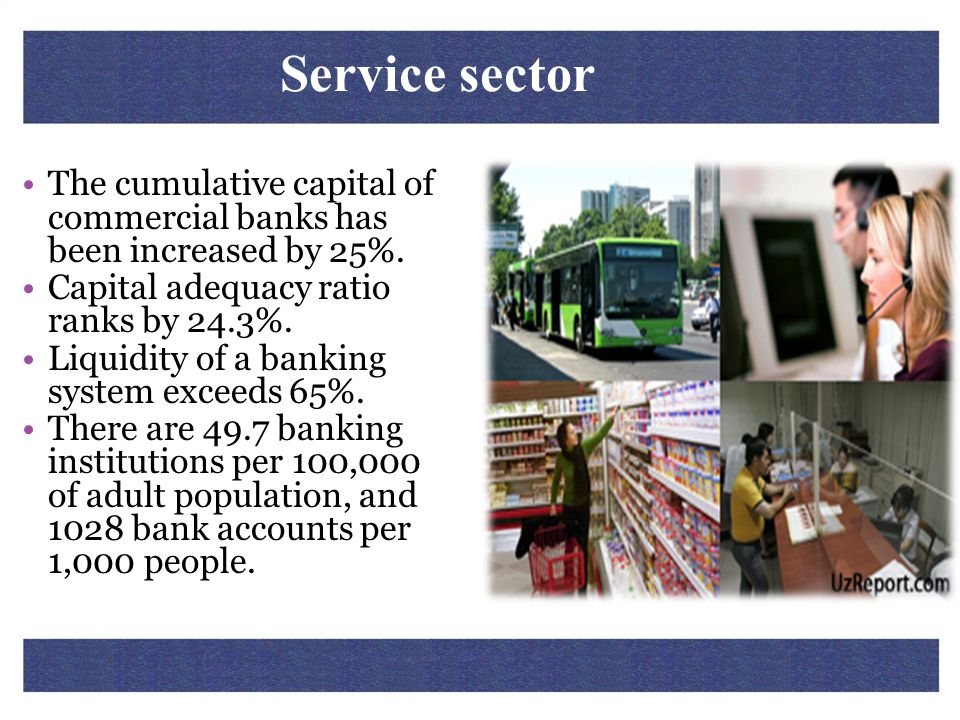 The cumulative capital of commercial banks has been increased by 25%. Capital adequacy ratio ranks by 24.3%. Liquidity of a banking system exceeds 65%
