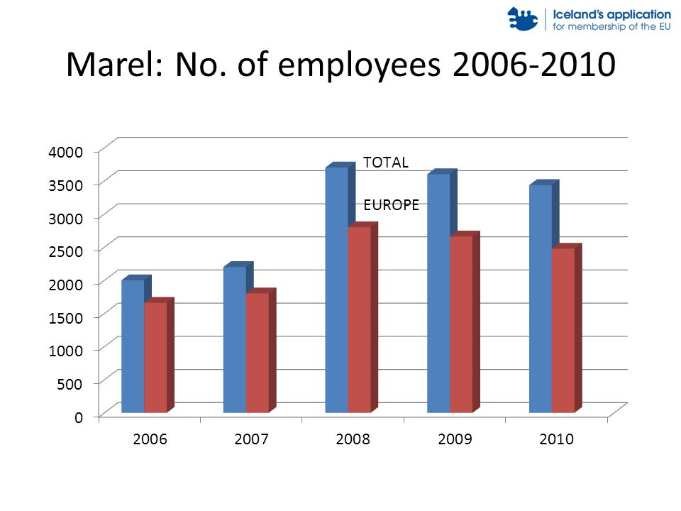 Marel: No. of employees 2006-2010
