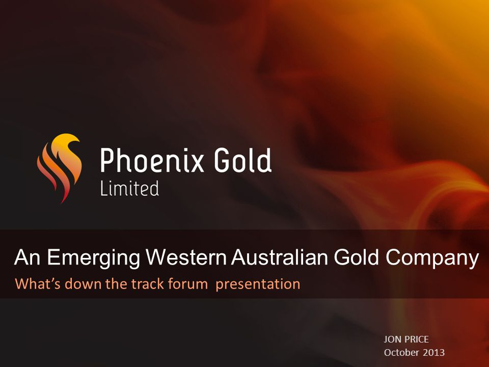 Disclaimer & Important Information 2 Statements and material contained in this Presentation, particularly those regarding possible or assumed future performance, production levels or rates, resources or potential growth of Phoenix Gold Limited, industry growth or other trend projections are, or may be, forward looking statements.