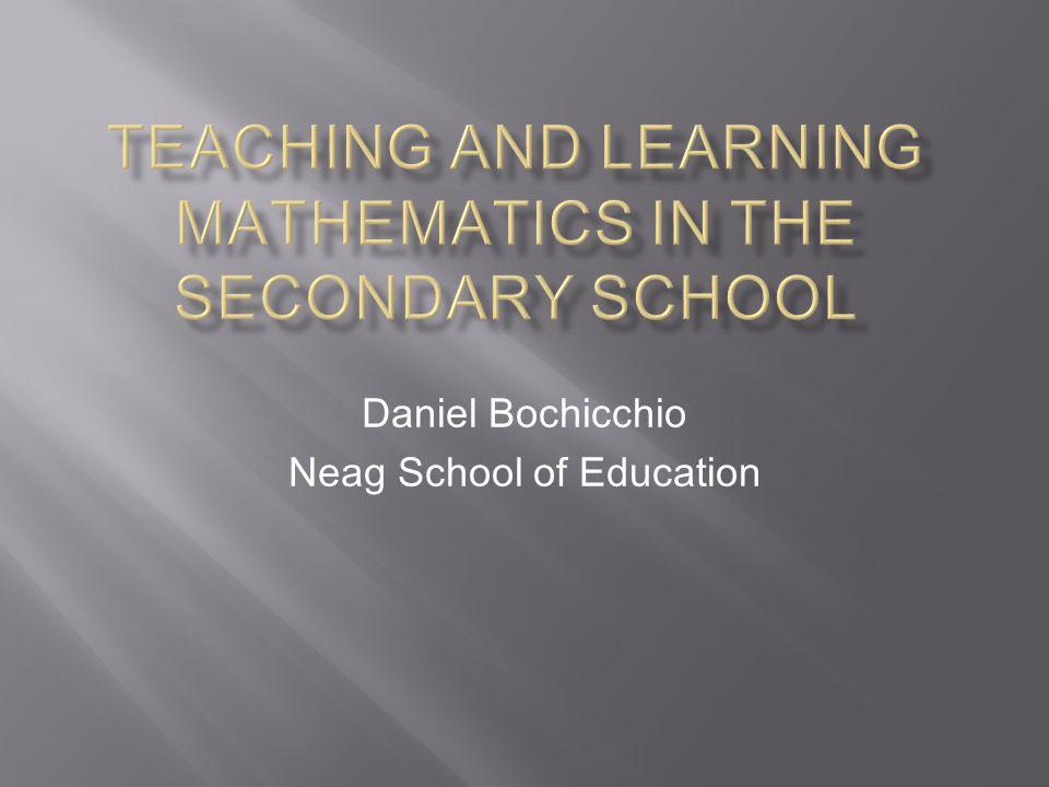 Daniel Bochicchio Neag School of Education