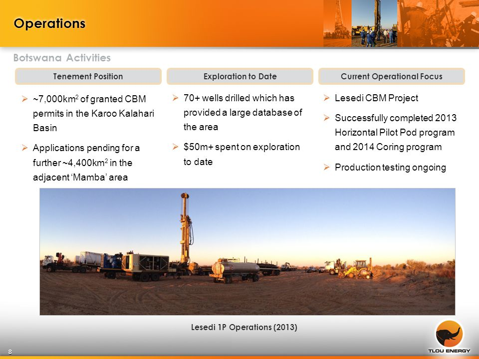 Forward Plan Demonstrate commercial gas flows at Lesedi & Selemo Pilot Pods Secure MOU for gas supply Assess data from infill coring program Conduct expanded program  Complete dewatering to achieve critical gas desorption at Lesedi (achieved at Selemo in May 2014)  Flow gas at commercial rates  Work commenced on gas marketing agreements with potential off-takers in anticipation of commercial gas flows  Three-well infill coring program successfully completed in April 2014  Additional pods  To be finalised based on current production testing results Initial 2P Reserves Booking (targeting 2014) Reserves Upgrade, Optimisation of Field Development Plan 2014/15: Focus on Reserves and Field Development 19