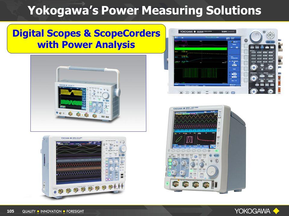Digital Scopes & ScopeCorders with Power Analysis Yokogawa's Power Measuring Solutions 105