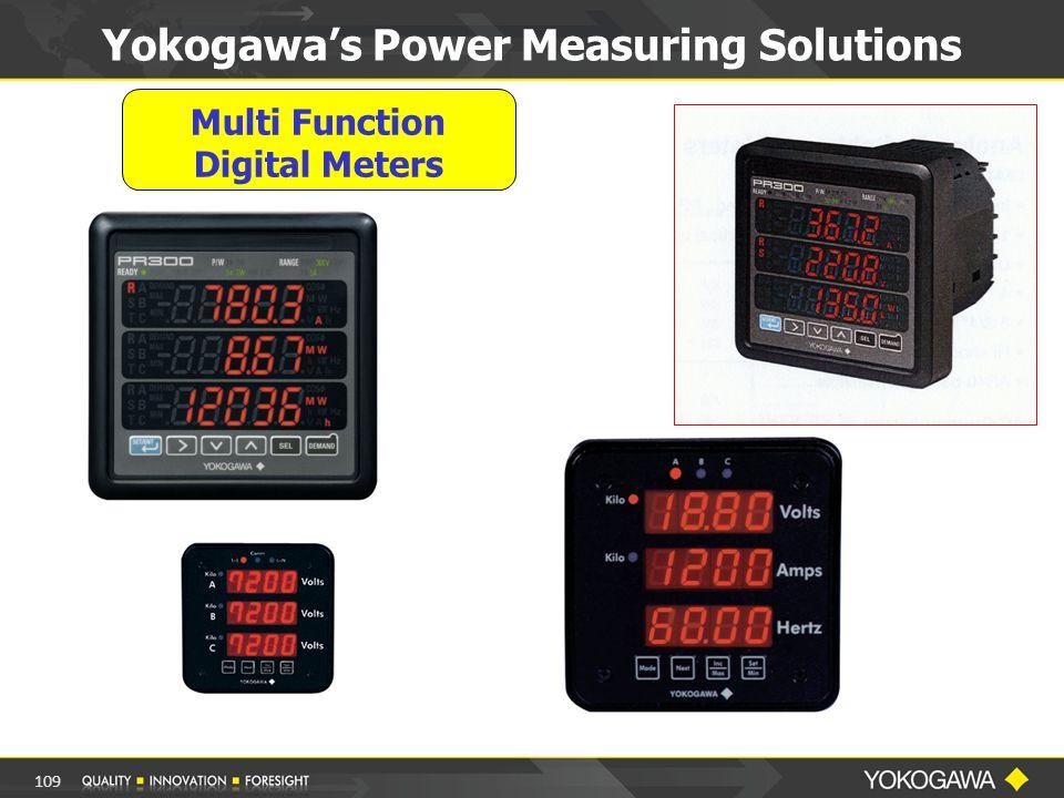 Multi Function Digital Meters Yokogawa's Power Measuring Solutions 109