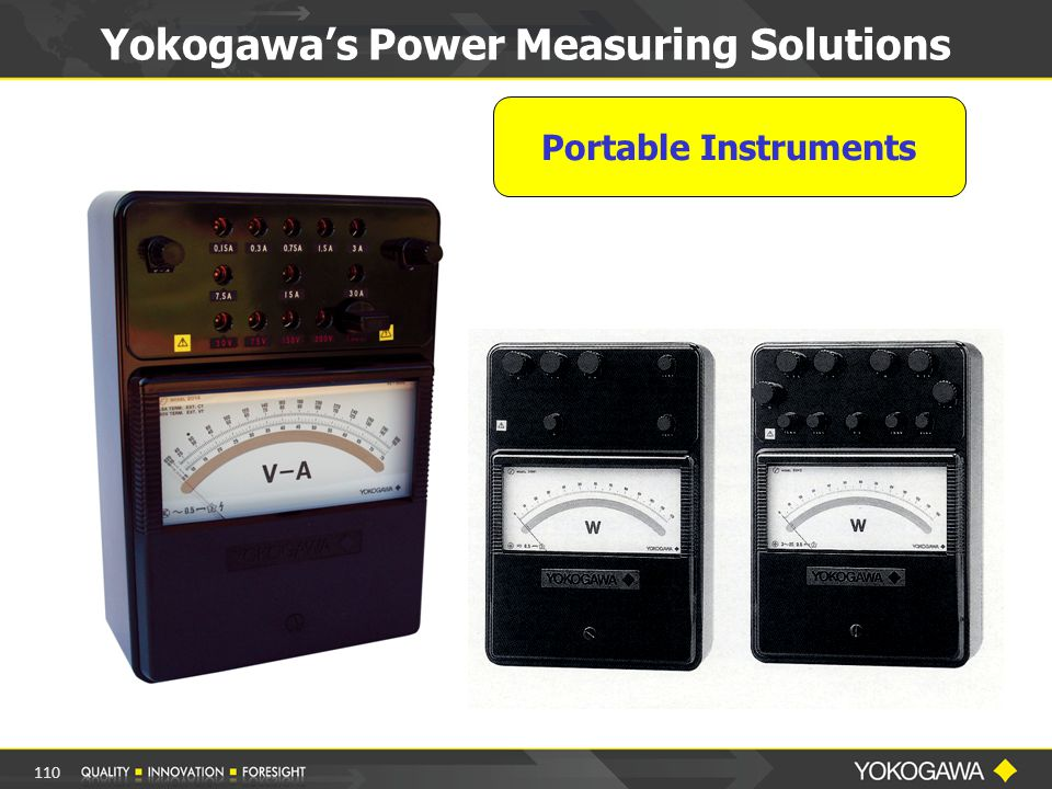 Portable Instruments Yokogawa's Power Measuring Solutions 110