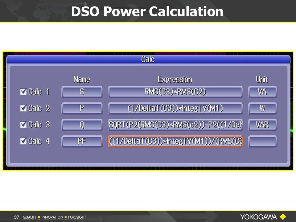 DSO Power Calculation 97