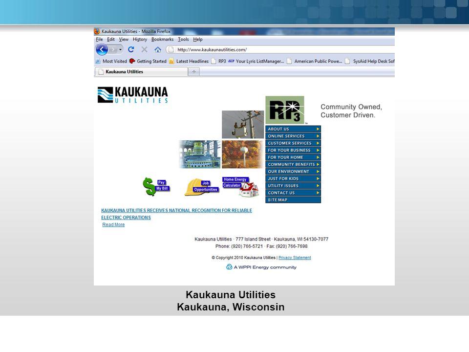 Kaukauna Utilities Kaukauna, Wisconsin