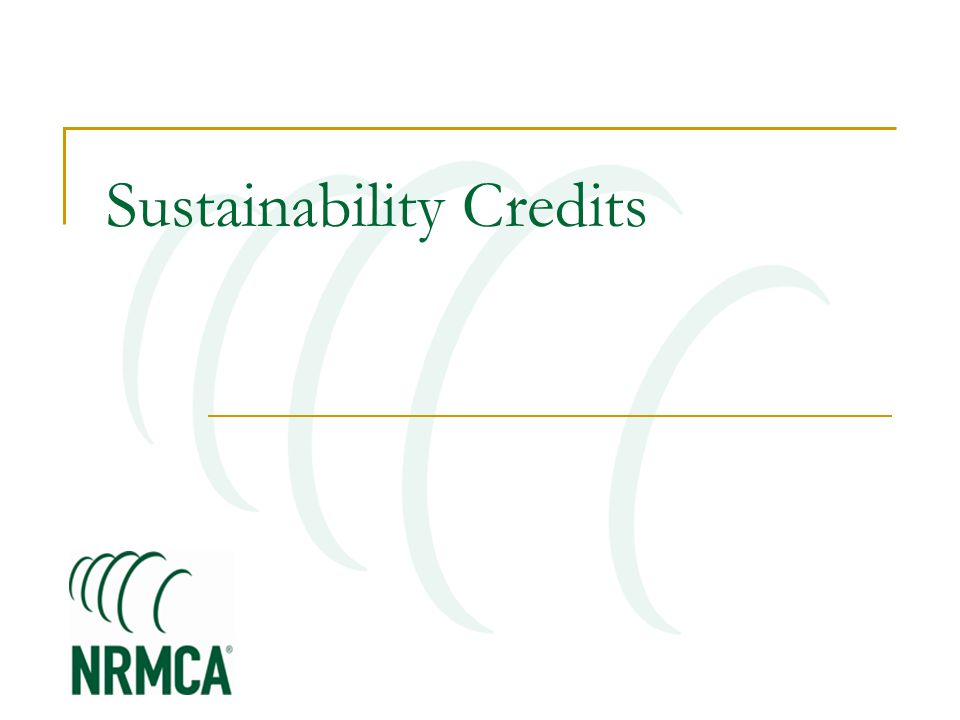 Sustainability Credits