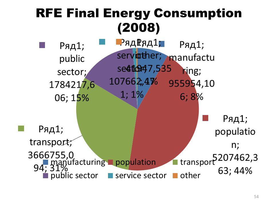 RFE Final Energy Consumption (2008) 54