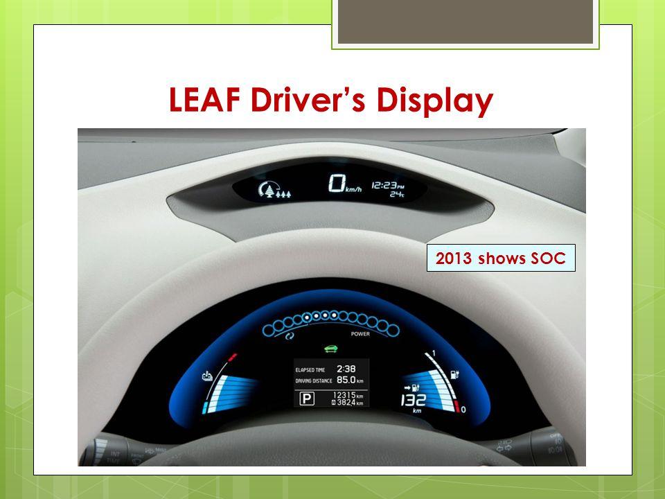 LEAF Driver's Display 2013 shows SOC