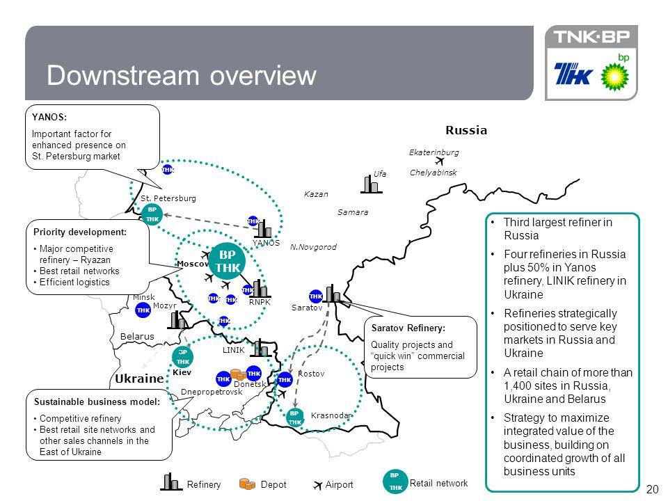 20 Downstream overview ТНК RNPK St.