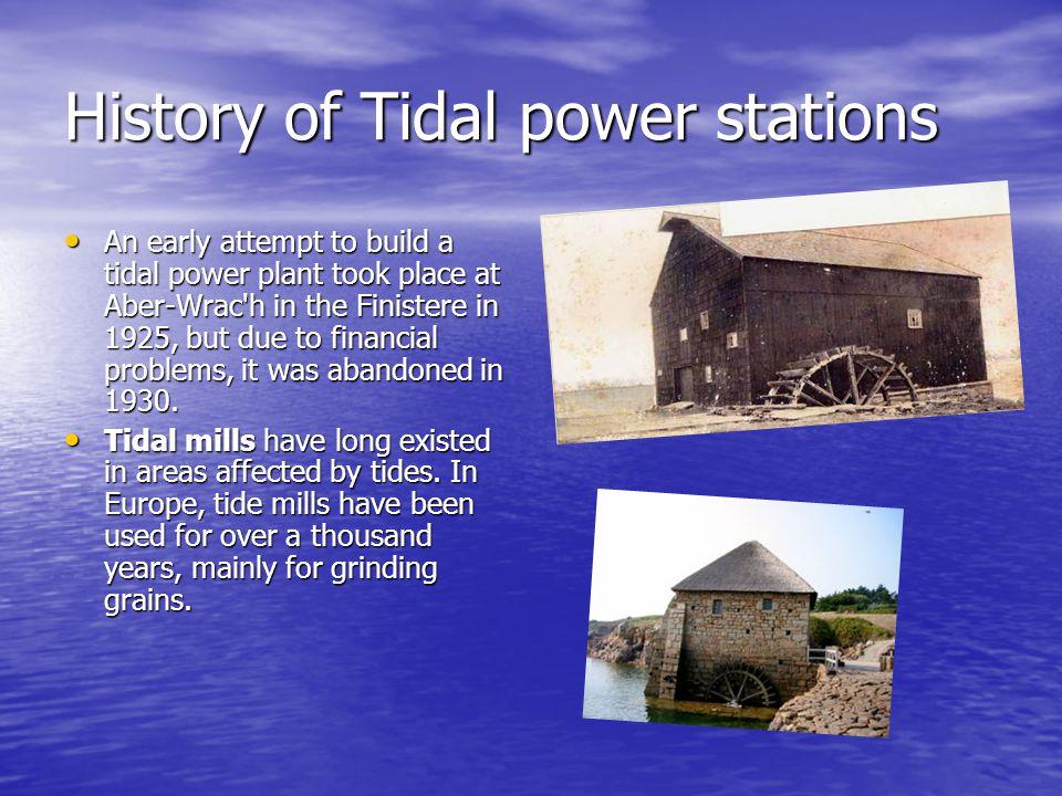Principle of tidal power stations 1.