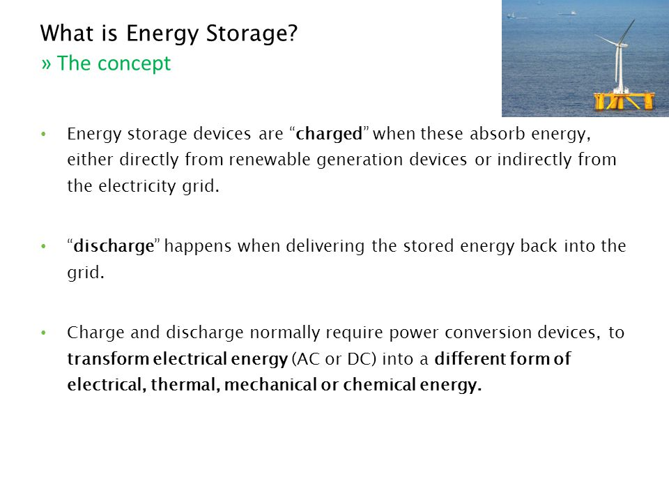 What is Energy Storage .
