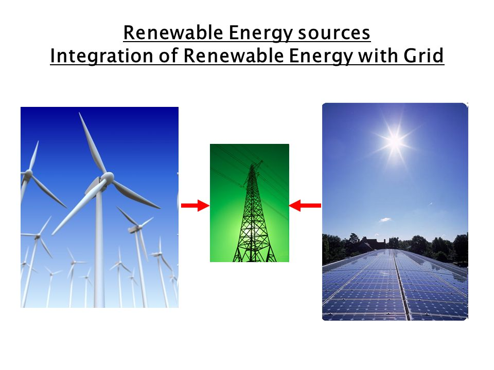 Renewable Energy sources Integration of Renewable Energy with Grid