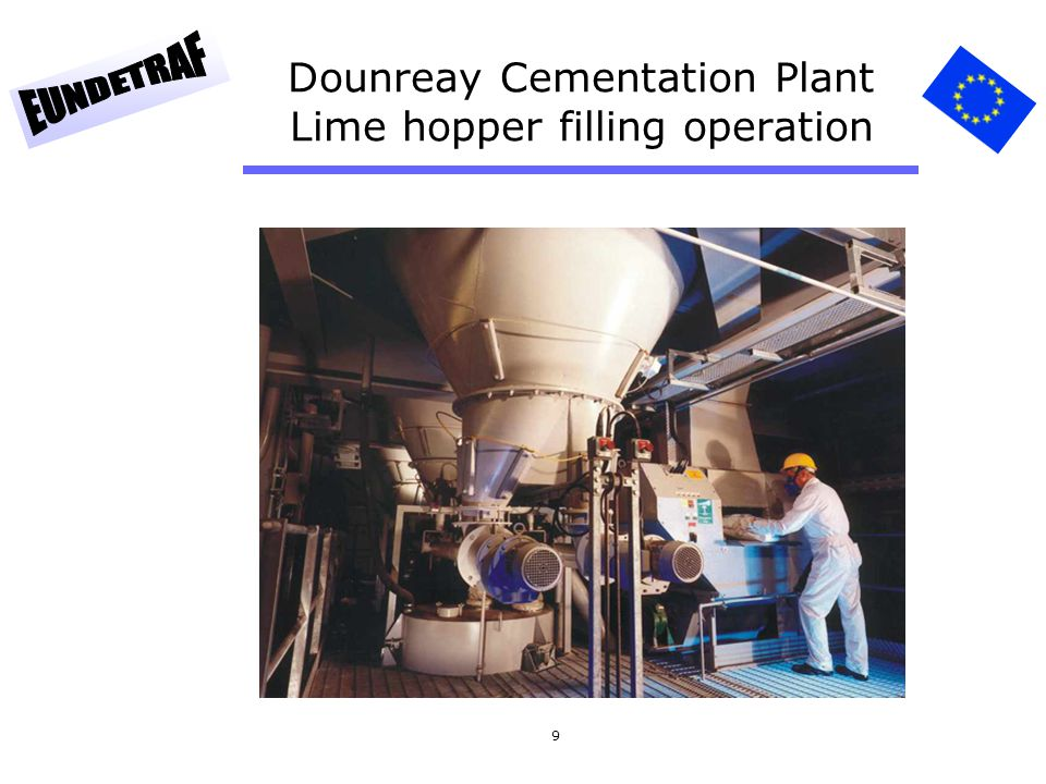 9 Dounreay Cementation Plant Lime hopper filling operation