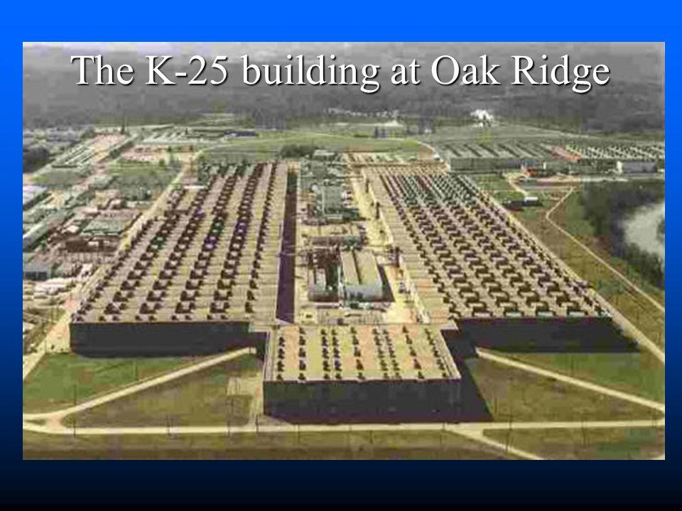 The K-25 building at Oak Ridge