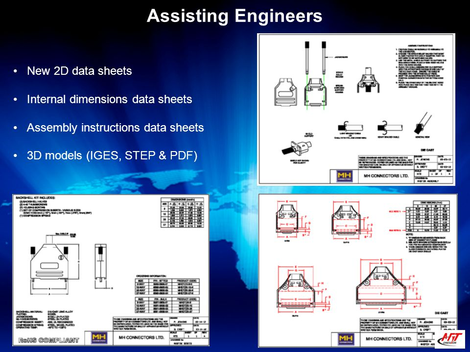 New 2D data sheets Internal dimensions data sheets Assembly instructions data sheets 3D models (IGES, STEP & PDF)