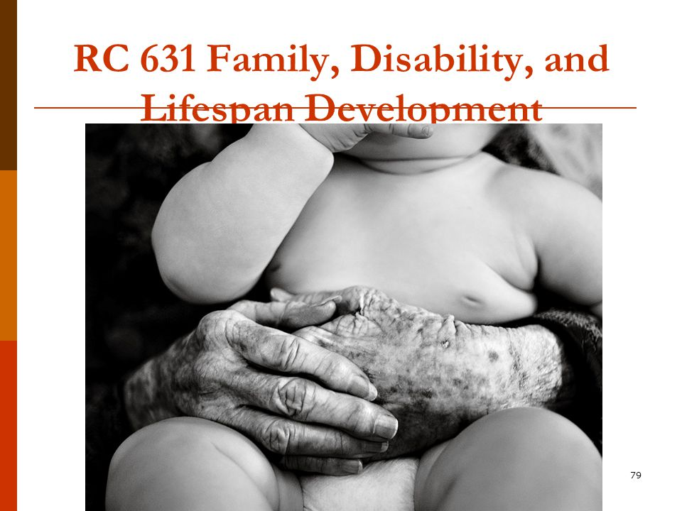 79 RC 631 Family, Disability, and Lifespan Development