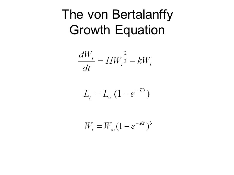 The von Bertalanffy Growth Equation