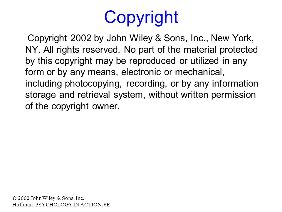 © 2002 John Wiley & Sons, Inc.