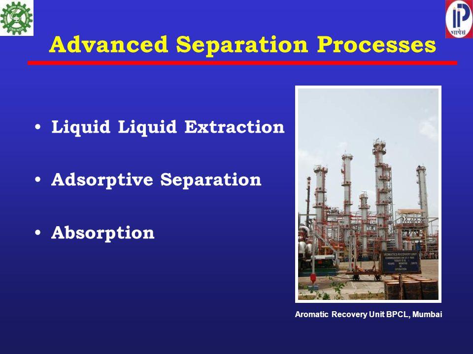 Advanced Separation Processes Liquid Liquid Extraction Adsorptive Separation Absorption Aromatic Recovery Unit BPCL, Mumbai