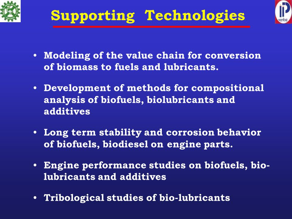 Modeling of the value chain for conversion of biomass to fuels and lubricants.