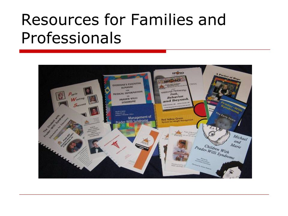 Resources for Families and Professionals