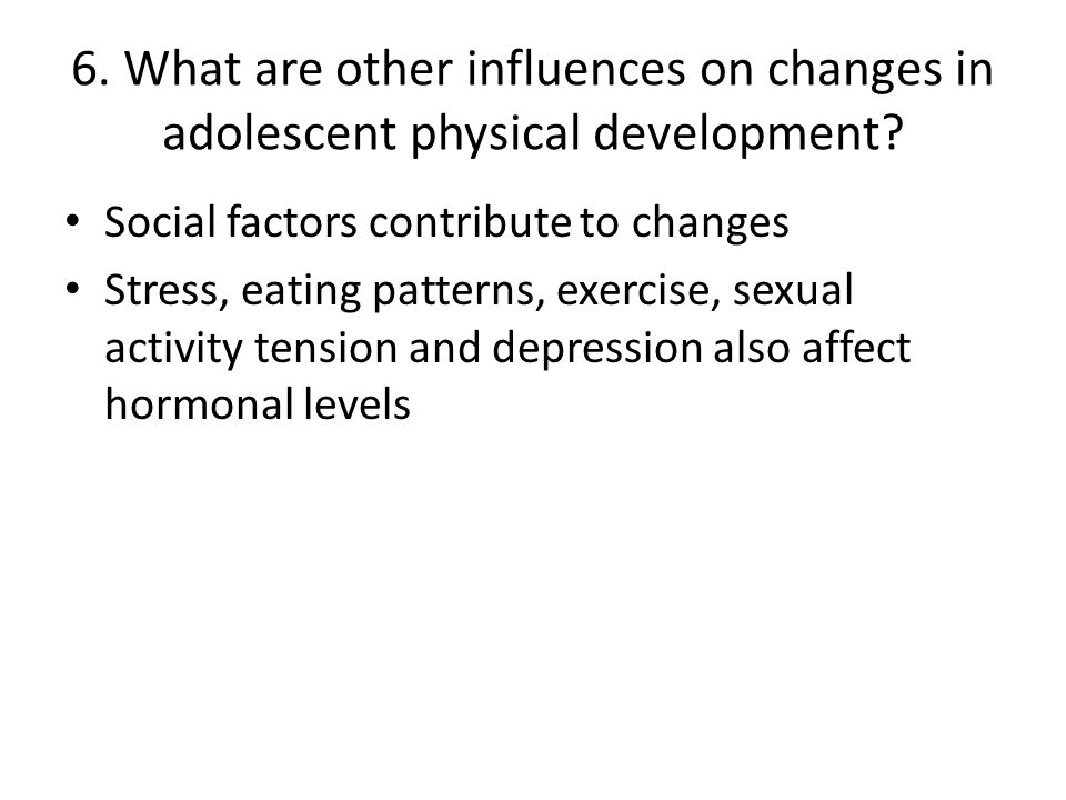 13.What are issues important in adolescent health.