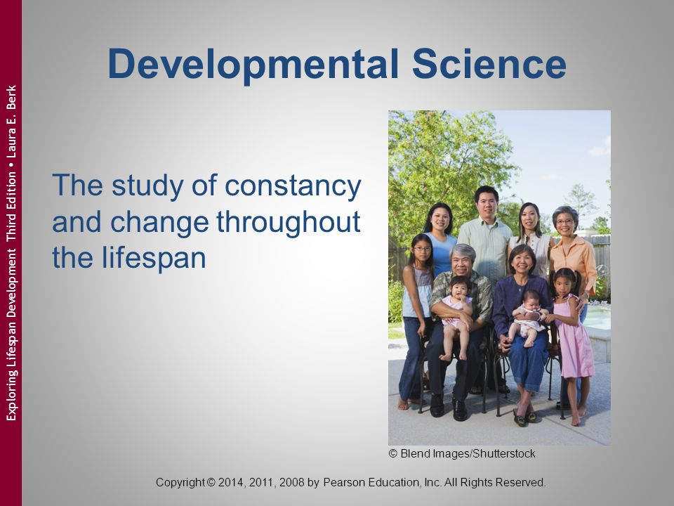 Copyright © 2014, 2011, 2008 by Pearson Education, Inc. All Rights Reserved. Exploring Lifespan Development Third Edition  Laura E. Berk The study of