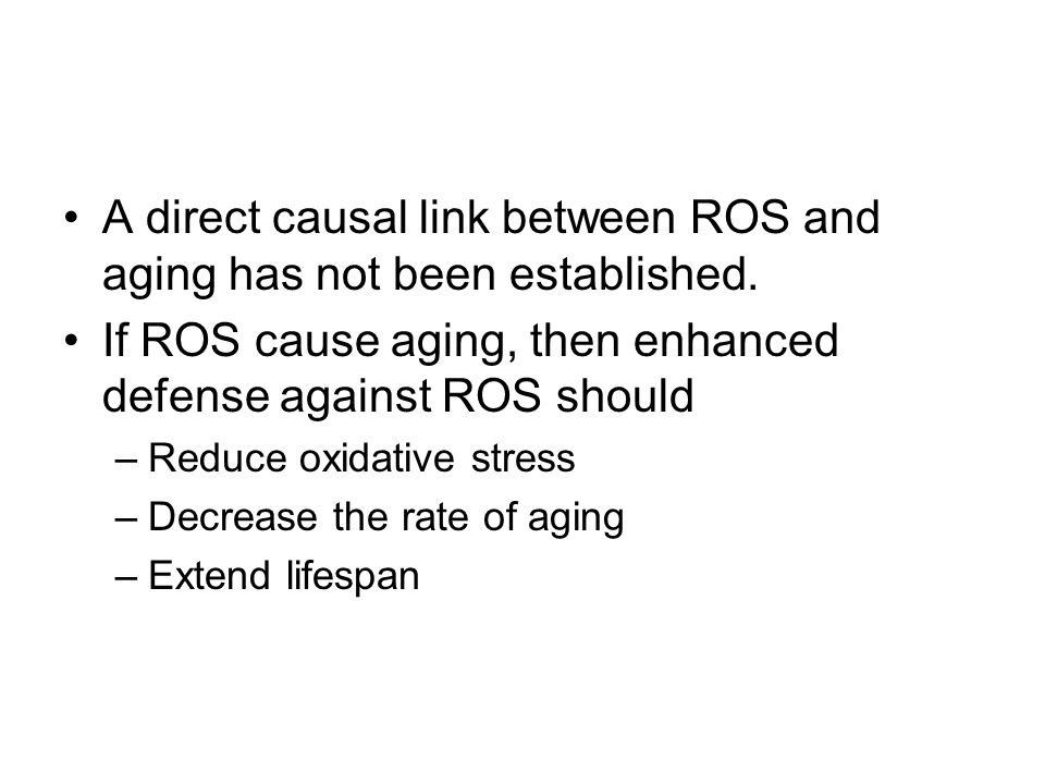 The over-expression of SOD1 (CuZn- SOD) is shown to extend lifespan.