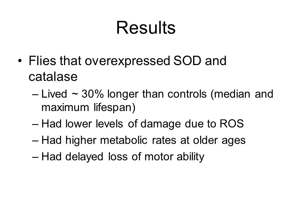 The results were different from an earlier study by the authors, in which only SOD or only catalase were overexpressed.