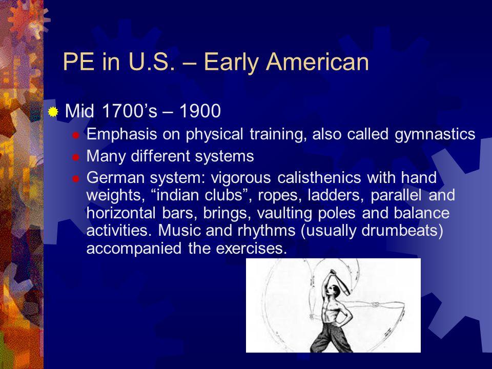 WCU PE HISTORY