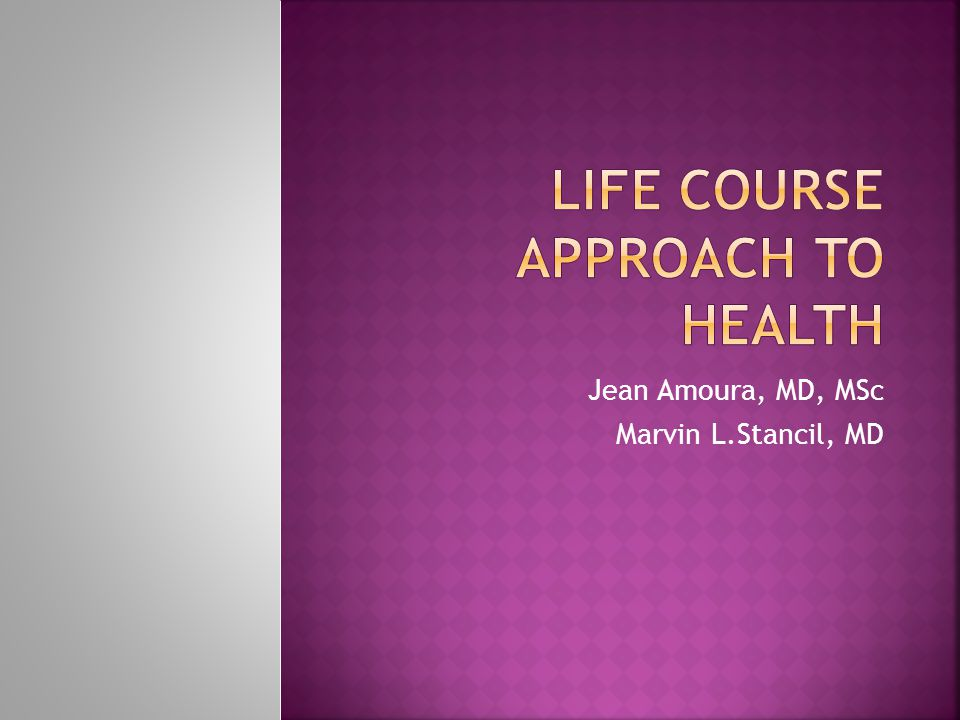 Jean Amoura, MD, MSc Marvin L.Stancil, MD