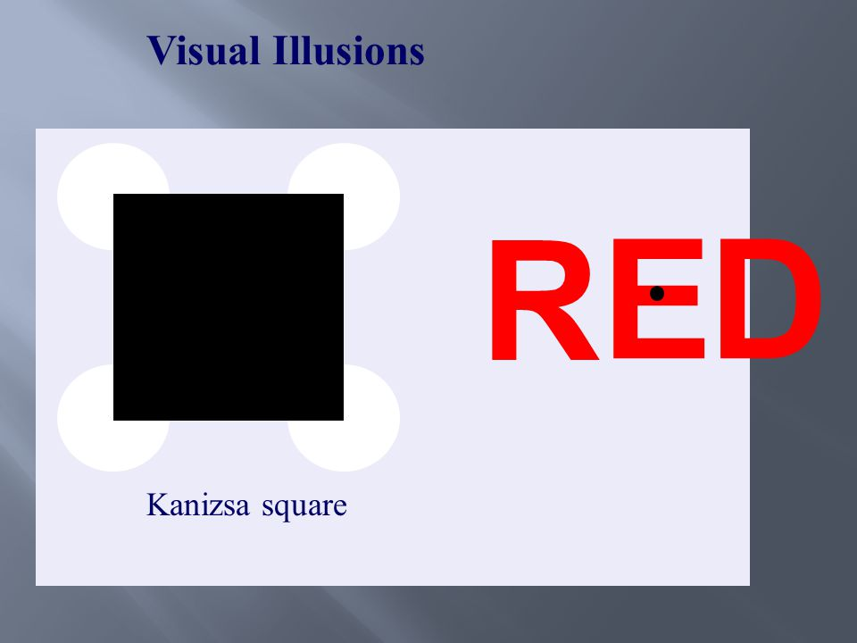 Visual Illusions Kanizsa square ED R