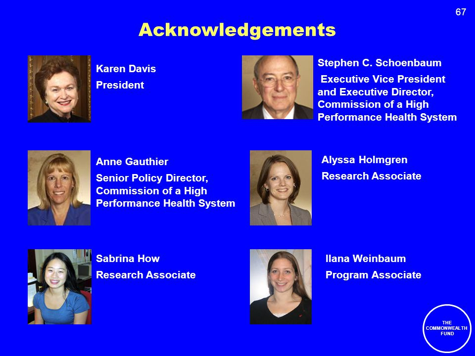 67 Acknowledgements Stephen C.