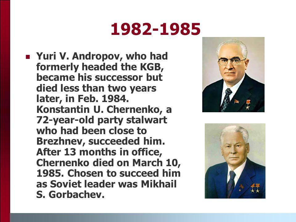 1982-1985 Yuri V.