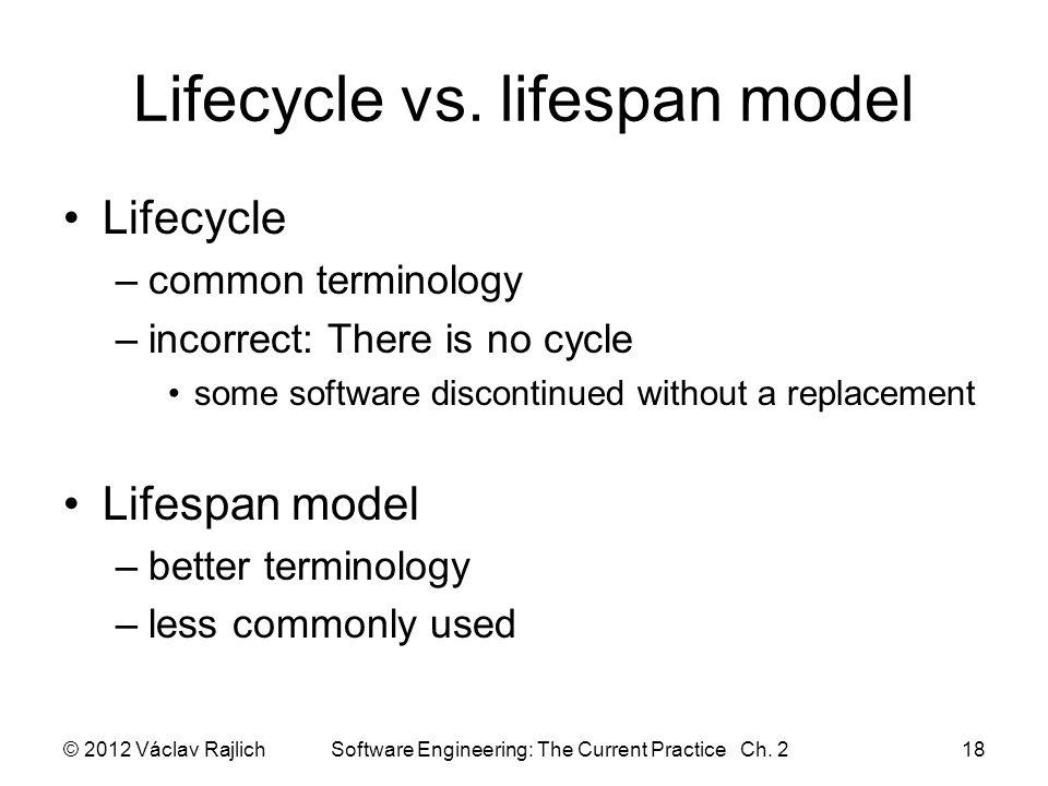 Lifecycle vs.