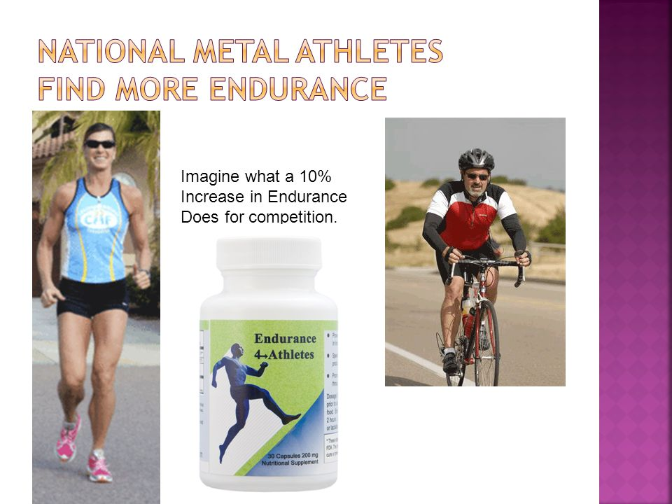 Imagine what a 10% Increase in Endurance Does for competition.