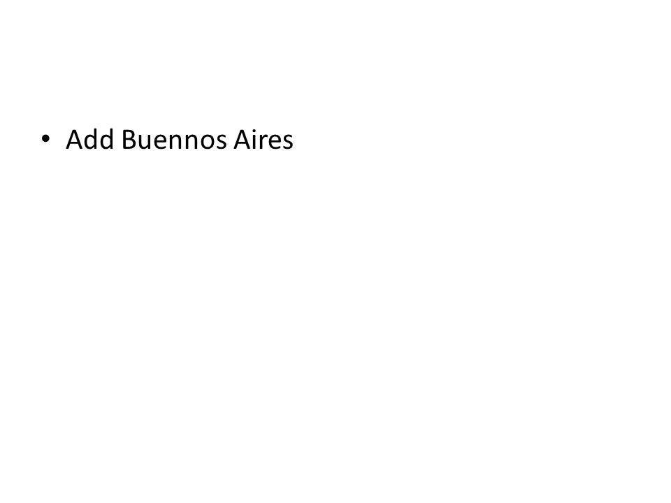 Add Buennos Aires