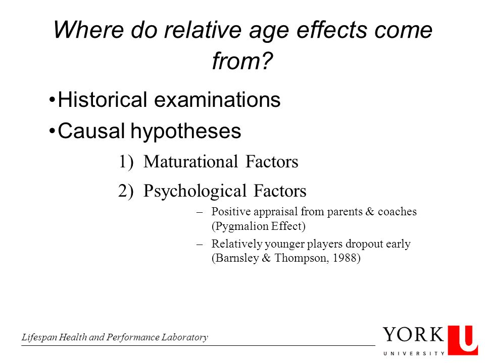 Where do relative age effects come from.